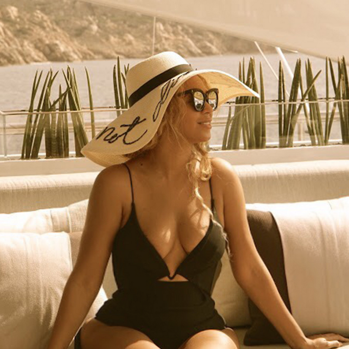 Beyonce Instagram in Eugenia Kim's hats