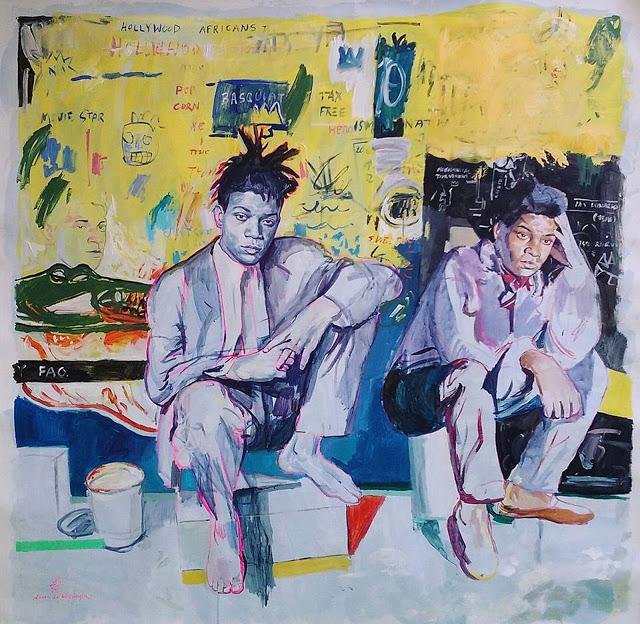 laura-la-wasilewska-_-yellow-basquiat_-2016-_-acrylic-on-canvas_-52_-52-_inch